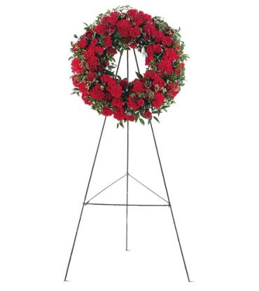 Red Regards Wreath