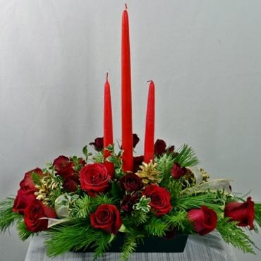Three Candle Centerpiece