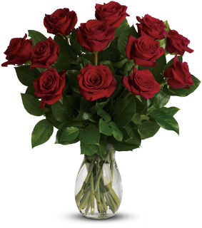 My True Love Bouquet with 12 Medium Stemmed Roses