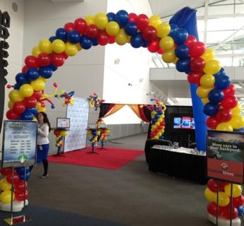 Multi Colored Balloon Arch