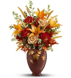 Falling Leaves Vase Bouquet
