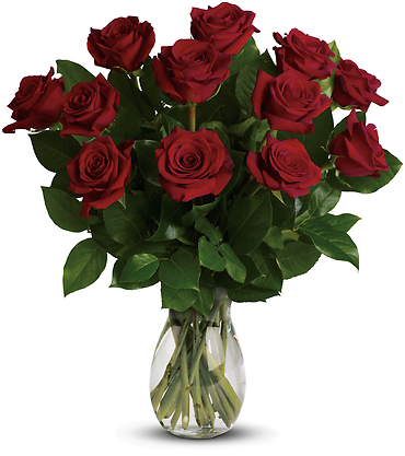 My True Love Bouquet with 12 Roses
