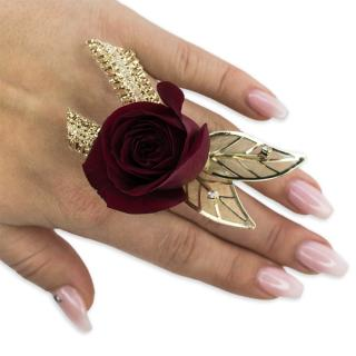Ruby Metallic Floral Ring